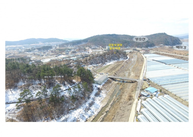 금동보살상 출토 위치 및 조사지역 일대 모습.jpg